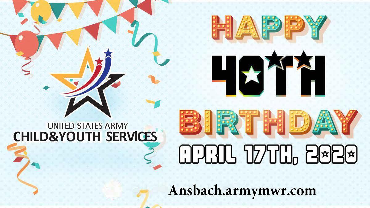 Army CYS Celebrates 40th Birthday