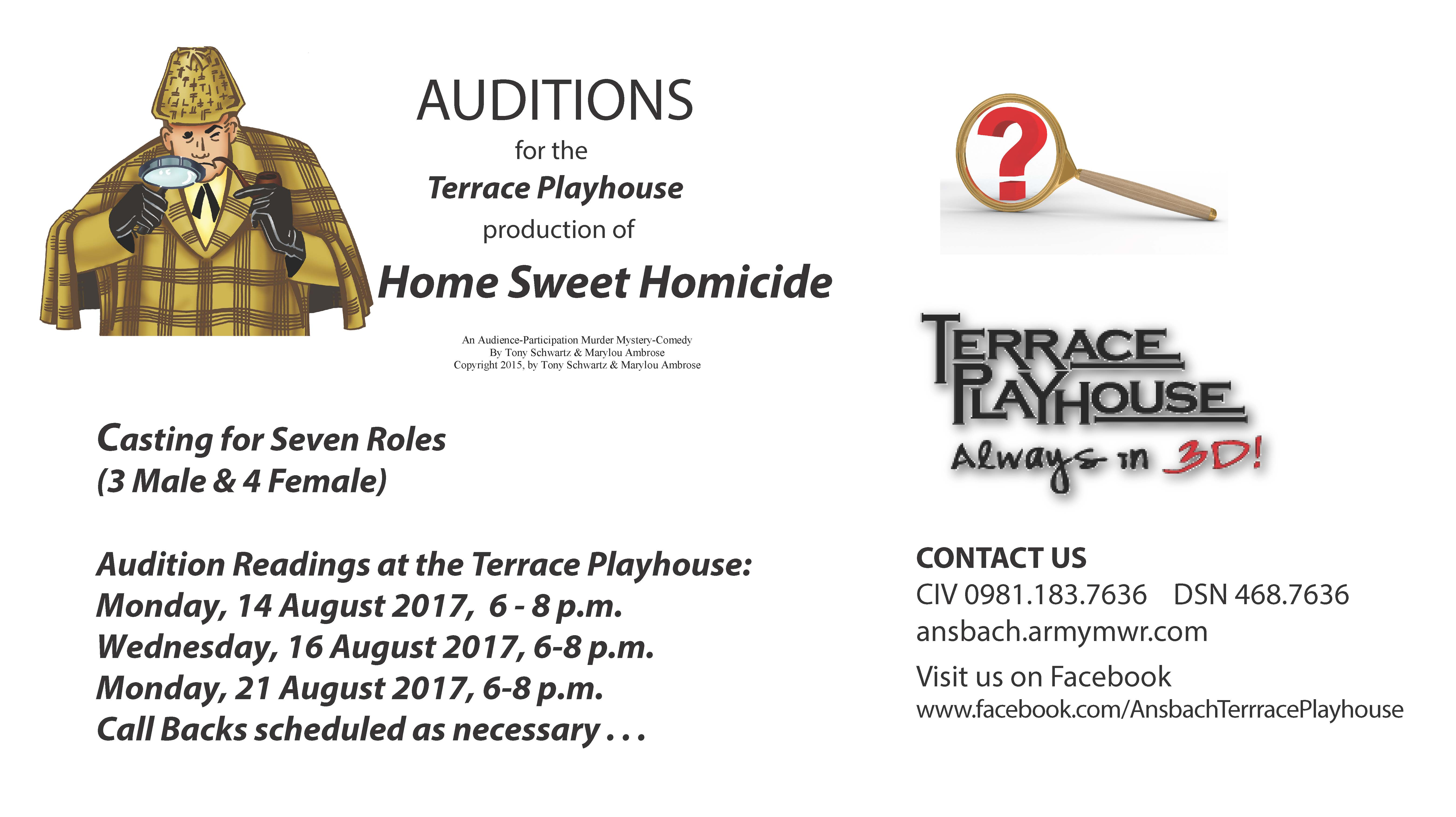 Auditions - Home Sweet Homicide